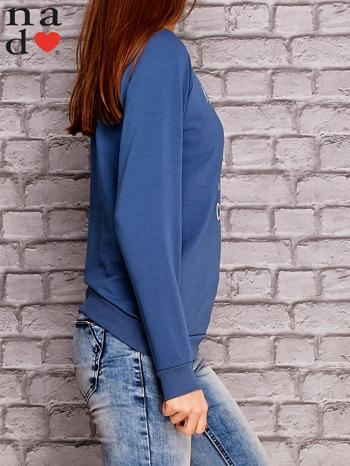 Ciemnoniebieska bluza z napisem PONIEDZIAŁEK POWINIEN BYĆ TYLKO DLA CHĘTNYCH                                  zdj.                                  3