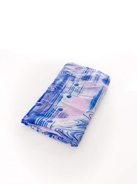Ciemnoniebieska chusta w paski                                  zdj.                                  3