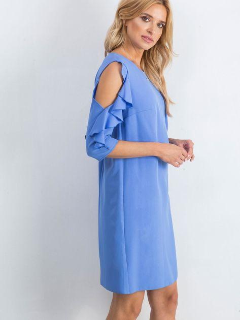 Ciemnoniebieska sukienka Brilliance                              zdj.                              3