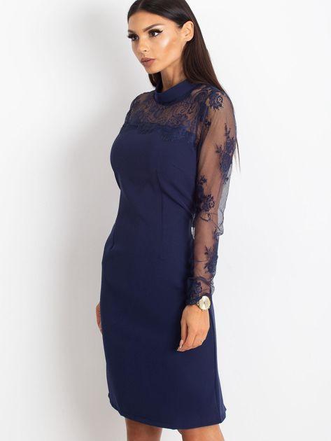 Ciemnoniebieska sukienka Time                              zdj.                              3