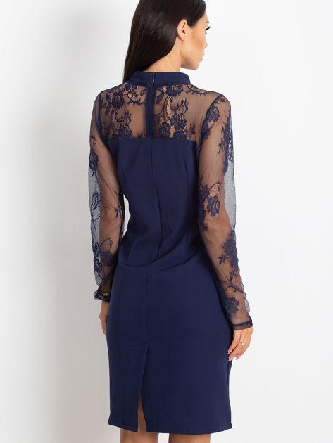 Ciemnoniebieska sukienka Time                              zdj.                              2