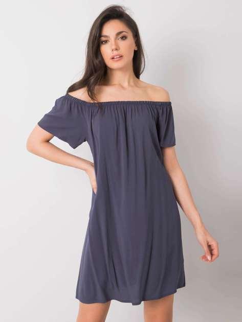 Ciemnoniebieska sukienka hiszpanka Benita FRESH MADE