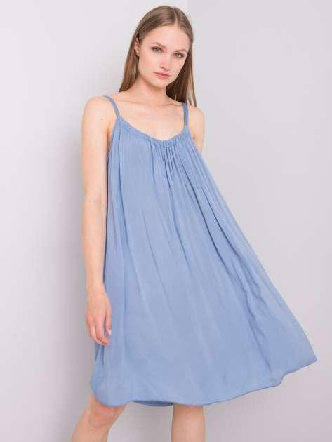 Ciemnoniebieska sukienka na ramiączkach Polinne OCH BELLA