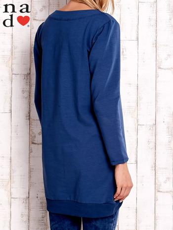 Ciemnoniebieska tunika z kieszeniami                                  zdj.                                  4