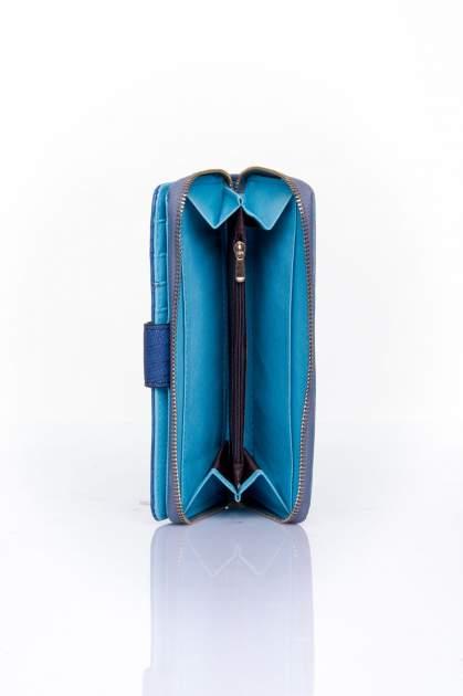 Ciemnoniebieski portfel ze złotą klamerką                                  zdj.                                  5