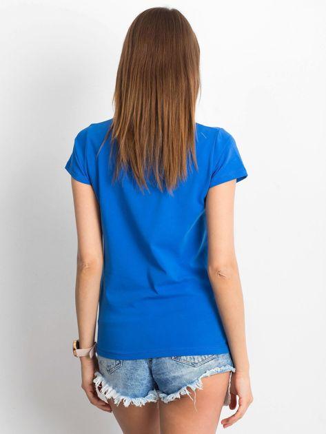 Ciemnoniebieski t-shirt Square                              zdj.                              2