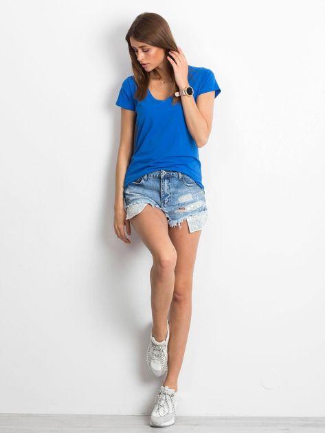 Ciemnoniebieski t-shirt Square                              zdj.                              4