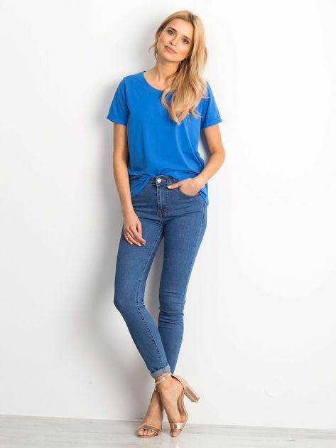 Ciemnoniebieski t-shirt Transformative                              zdj.                              4