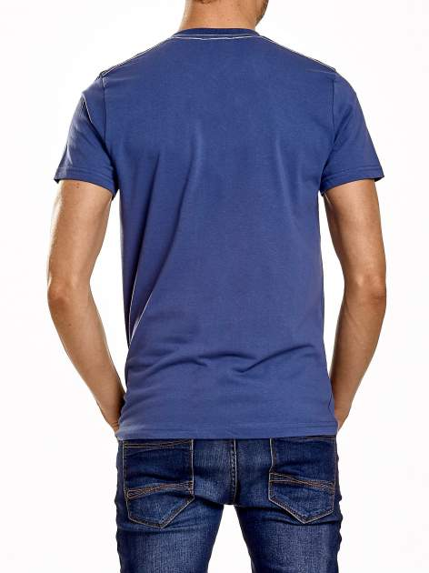 Ciemnoniebieski t-shirt męski z napisami BROOKLYN NEW YORK SPIRIT 86                                  zdj.                                  5