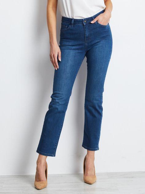 Ciemnoniebieskie jeansy Straight                              zdj.                              1