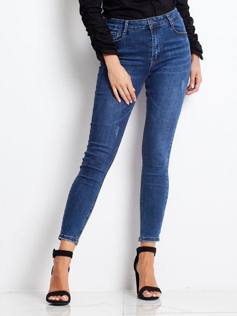 Ciemnoniebieskie jeansy Tantalizing                              zdj.                              1