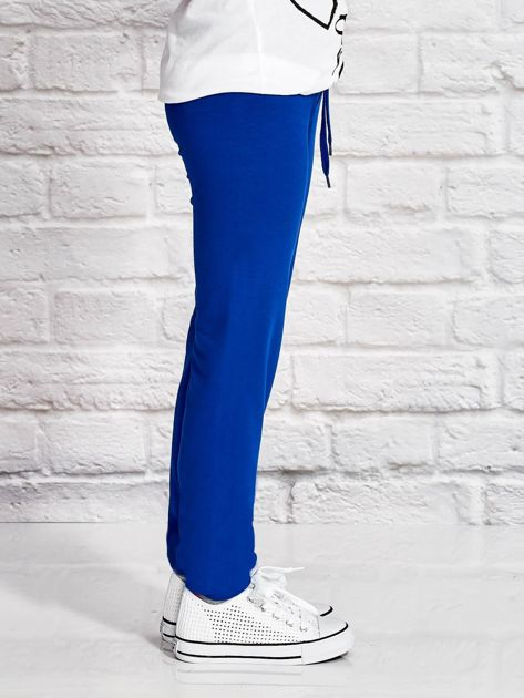 Ciemnoniebieskie spodnie dresowe dla dziewczynki LITTLE CUTE PONY                              zdj.                              3