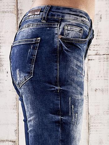 Ciemnoniebieskie spodnie jeansy marble denim                                  zdj.                                  5