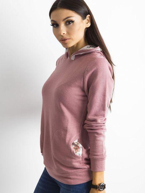 Ciemnoróżowa bluza z kieszeniami                              zdj.                              3