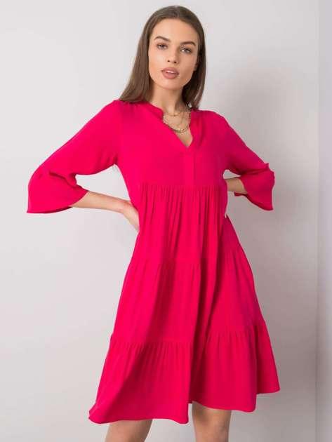 Ciemnoróżowa sukienka na co dzień Izzy SUBLEVEL