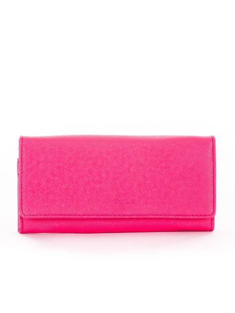 Ciemnoróżowy damski portfel