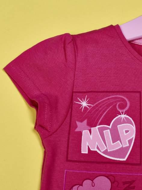 Ciemnoróżowy t-shirt dla dziewczynki MY LITTLE PONY                                  zdj.                                  3