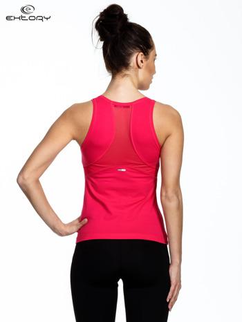 Ciemnoróżowy top sportowy z tiulowym wykończeniem na plecach                                  zdj.                                  3