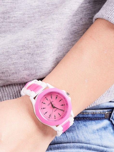 Ciemnoróżowy zegarek damski                              zdj.                              3