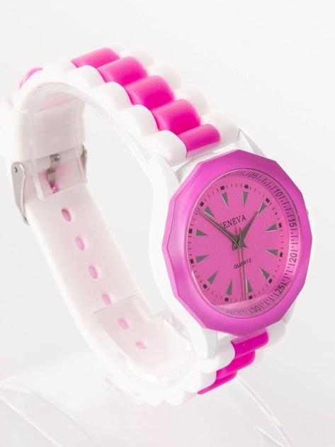 Ciemnoróżowy zegarek damski                              zdj.                              2