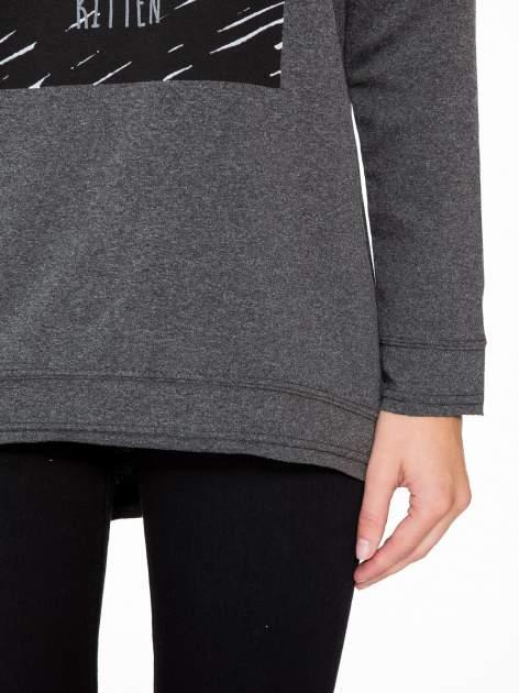 Ciemnoszara bluza z nadrukiem MEOW                                  zdj.                                  7