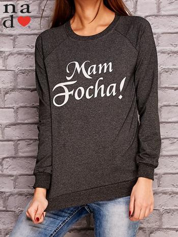 Ciemnoszara bluza z napisem MAM FOCHA                                  zdj.                                  1