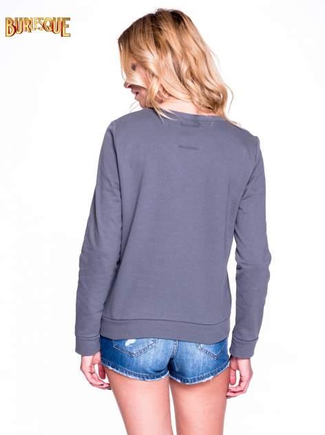 Ciemnoszara klasyczna bluza damska z napisem EXTRÉME UNIQUE                                  zdj.                                  4