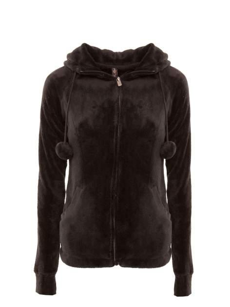 Ciemnoszara pluszowa bluza z kapturem z uszkami i pomponami                                  zdj.                                  2
