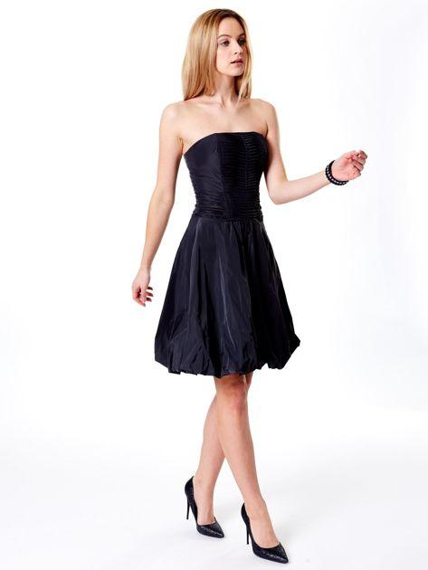 Ciemnoszara rozkloszowana sukienka                               zdj.                              7