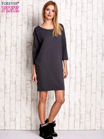 Ciemnoszara sukienka oversize                              zdj.                              2