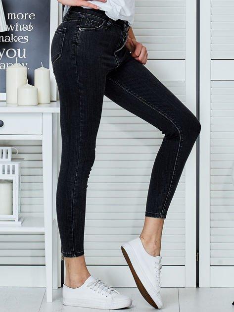 Ciemnoszare jeansy rurki                               zdj.                              5