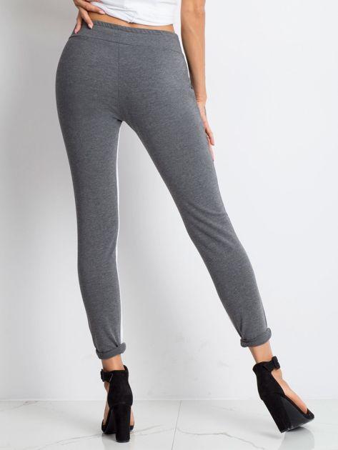 Ciemnoszare spodnie dresowe Defined                              zdj.                              2