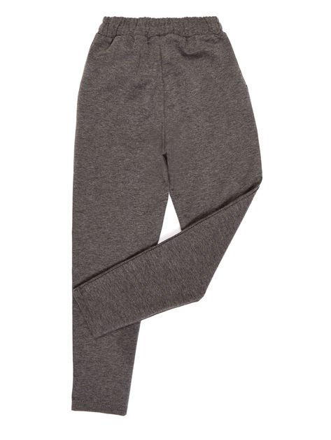 Ciemnoszare spodnie dresowe dla dziewczynki                              zdj.                              2