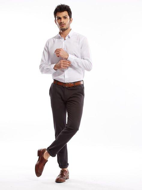 Ciemnoszare spodnie męskie chinos                              zdj.                              4