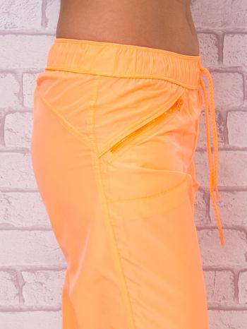 Ciemnoszare spodnie sportowe capri z wiązaniem                                  zdj.                                  7