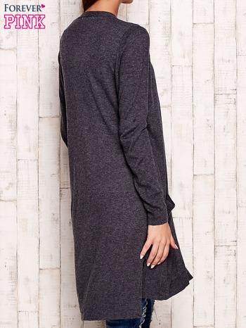 Ciemnoszary długi sweter oversize                                  zdj.                                  4