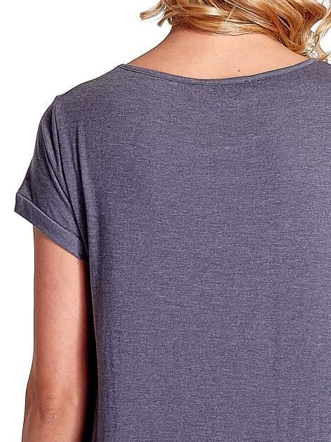 Ciemnoszary luźny t-shirt                                   zdj.                                  5
