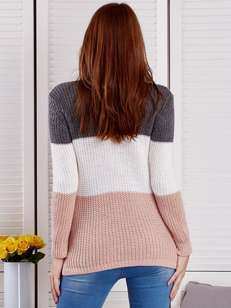 Ciemnoszary sweter z perełkami                              zdj.                              2