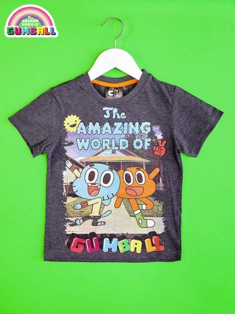 Ciemnoszary t-shirt chłopięcy GUMBALL