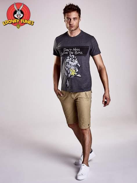 Ciemnoszary t-shirt męski LOONEY TUNES                                  zdj.                                  3