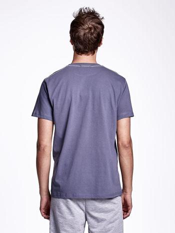 Ciemnoszary t-shirt męski z napisami BROOKLYN NEW YORK SPIRIT 86                                  zdj.                                  2