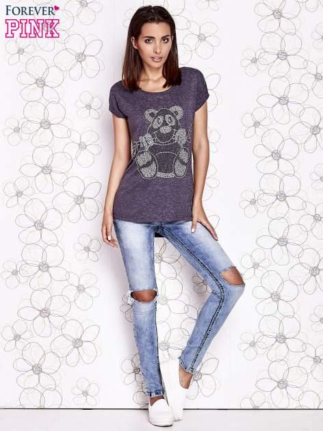 Ciemnoszary t-shirt z nadrukiem zwierzątka                                  zdj.                                  4