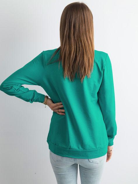 Ciemnozielona bluza damska basic                              zdj.                              2