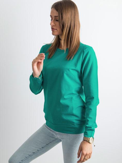 Ciemnozielona bluza damska basic                              zdj.                              3