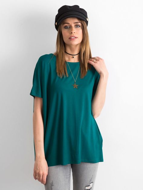 Ciemnozielona bluzka Oversize