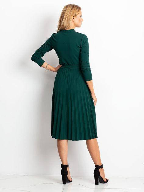 Ciemnozielona sukienka Eternal                              zdj.                              2