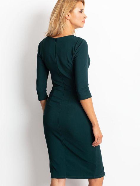 Ciemnozielona sukienka Shape                              zdj.                              2