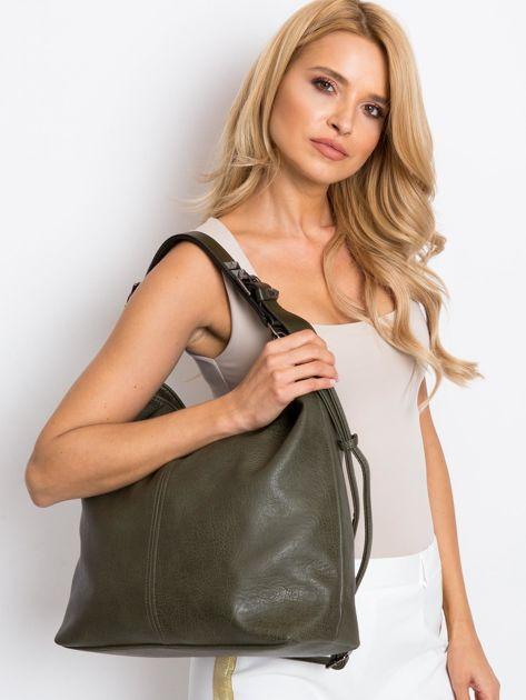 Ciemnozielona torba damska                              zdj.                              1