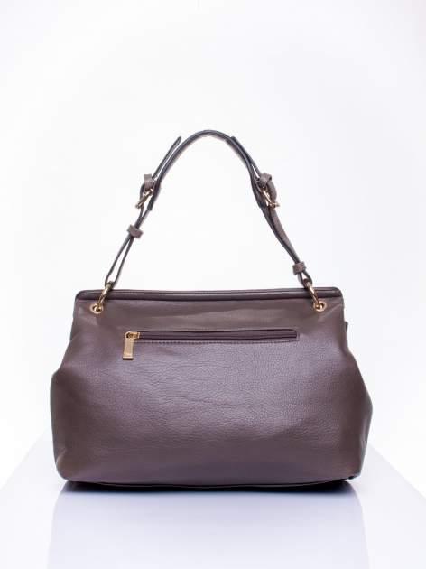 Ciemnozielona torebka kuferek ze złotym łańcuszkiem                                  zdj.                                  3