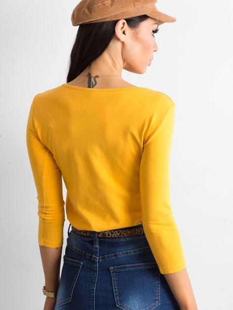Ciemnożółta bluzka Mona                              zdj.                              2